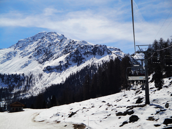 Chairlift ride to Mont Fort