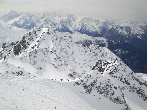 View from the Top of Mont Fort, towards Mont Blanc