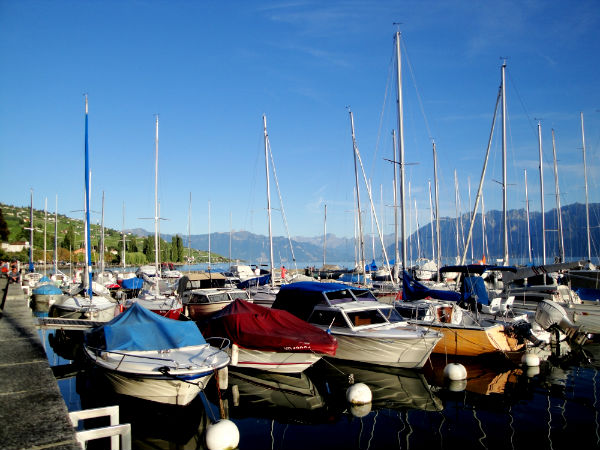 Port, Lac Leman, Switzerland