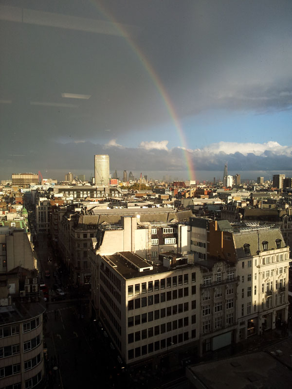 Rainbow after the Rain, London