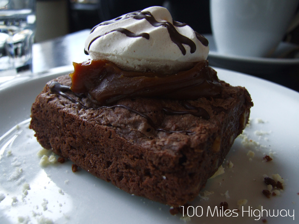 Brownie with Dulce de Leche
