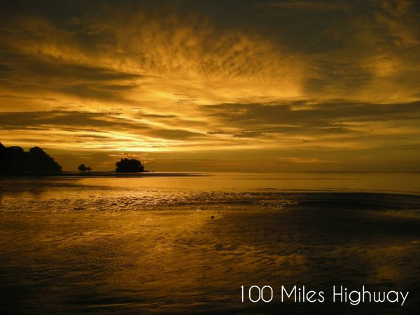 Yellow Sunset in Thailand
