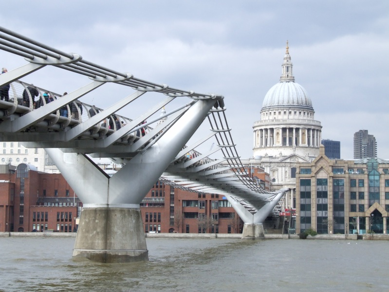 St Paul's Cathedral and Millennium Bridge, London