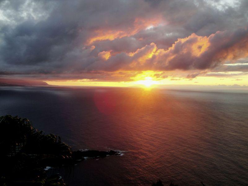 Sunset from Las Terrazas del Sauzal, Tenerife