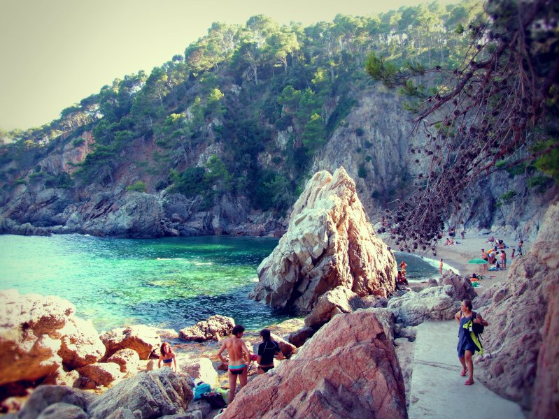Secret Beach in Catalonia, Spain