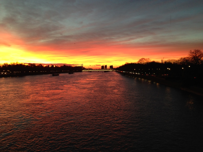 Sunset in London, UK