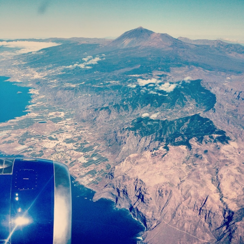 Tenerife from above, Spain