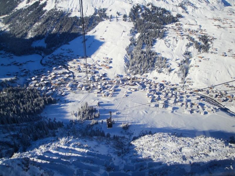 Skiing in Lech, Austria