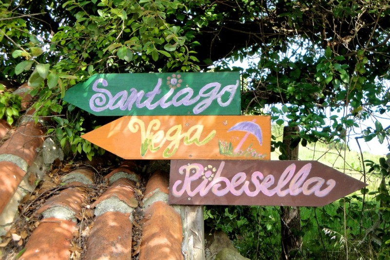 Signage Camino del Norte, Spain